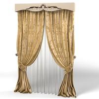 3dsmax curtain classic luxury