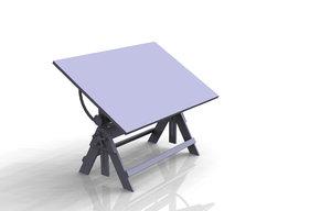 3d obj drafting table