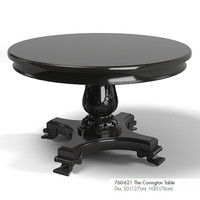 Drexel covington dining pedestal table 760-621