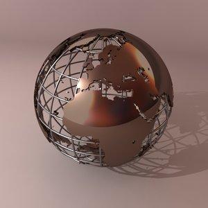 globe earth 3d model