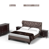 Galimberti Nino luxury bedroom set bed night bedside stand table chest of drawes art deco modern contemporary glamour classic