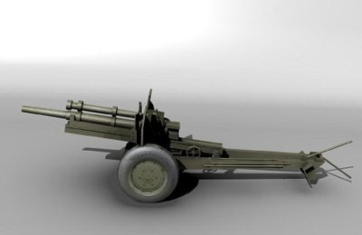 3d model of 105mm howitzer