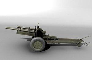 3d model of 105mm howitzer