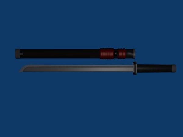 weapon katana 3d model