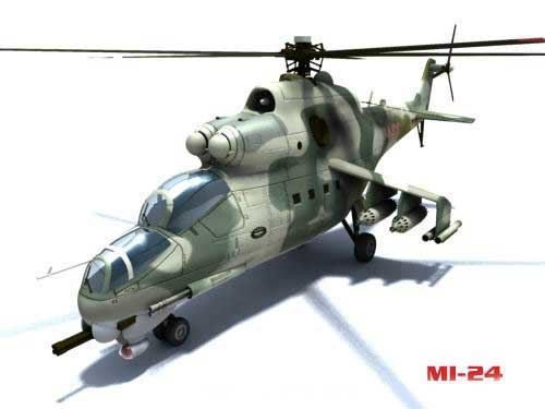 3d model mi-24 hind helicopter