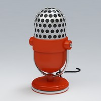 microphone 3d max