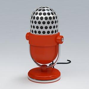 microphone 3d max