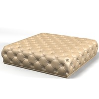 3d model of modern contemporary tufted
