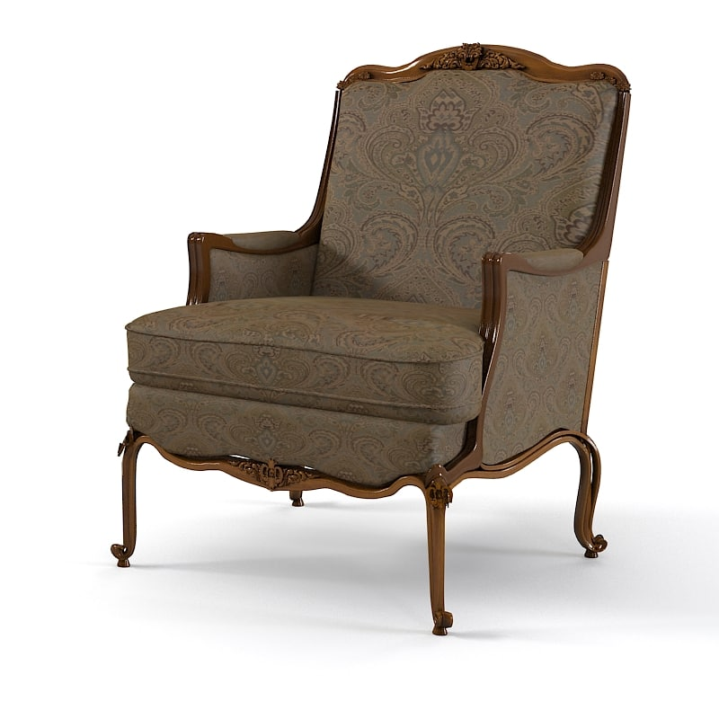 Classic Antique Baroque Traditional Armchair Elegant Chair