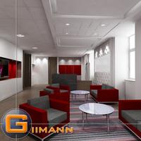 3D Office Reception