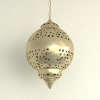 3ds max oriental chandelier brass lighting lamp