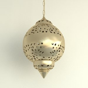 3ds max oriental chandelier brass lighting lamp
