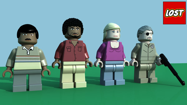 3d model of lego lost minifigure character pack