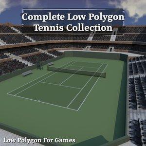 3d tennis stadium model