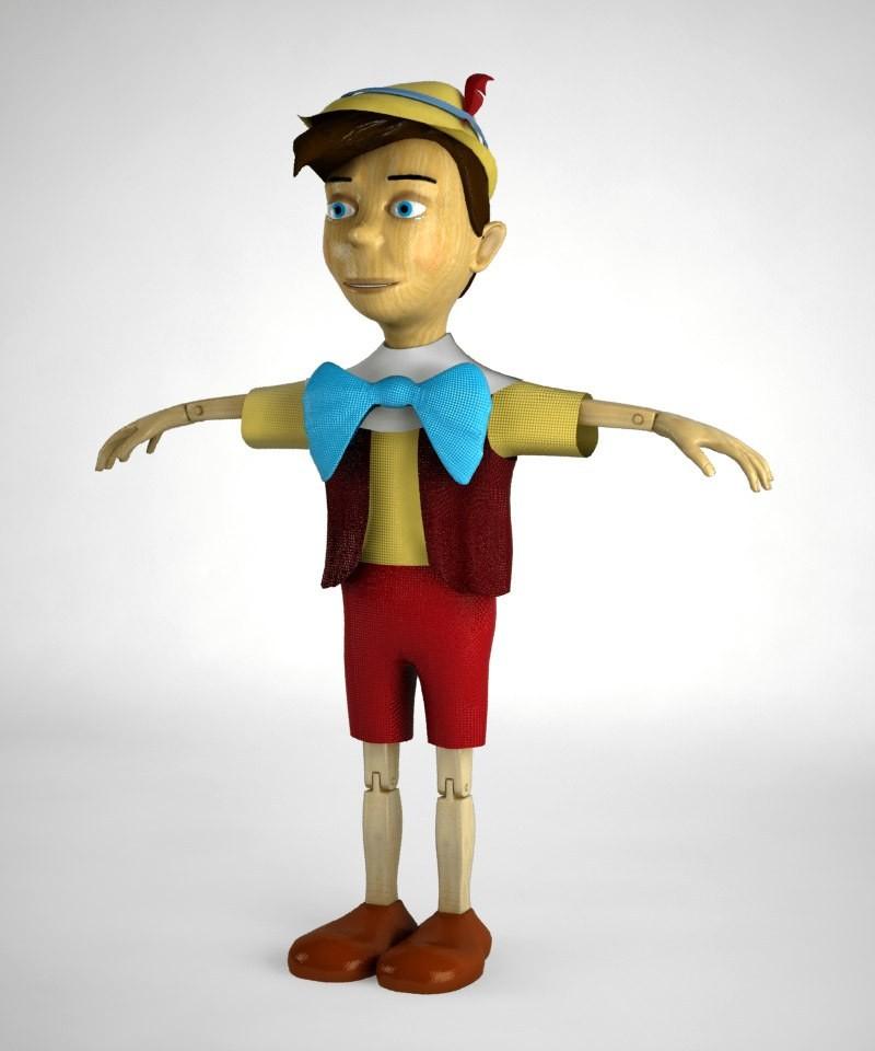 3d pinocchio puppet toy