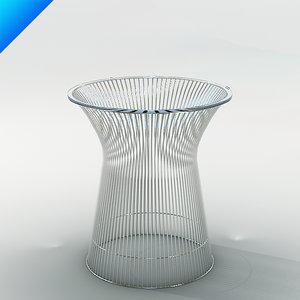 platner table design 3d model