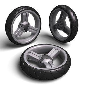 pushchair wheel tyre max