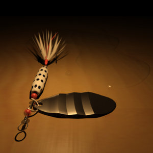 3d model spinning lure