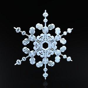 snowflake christmas symbols 3d model