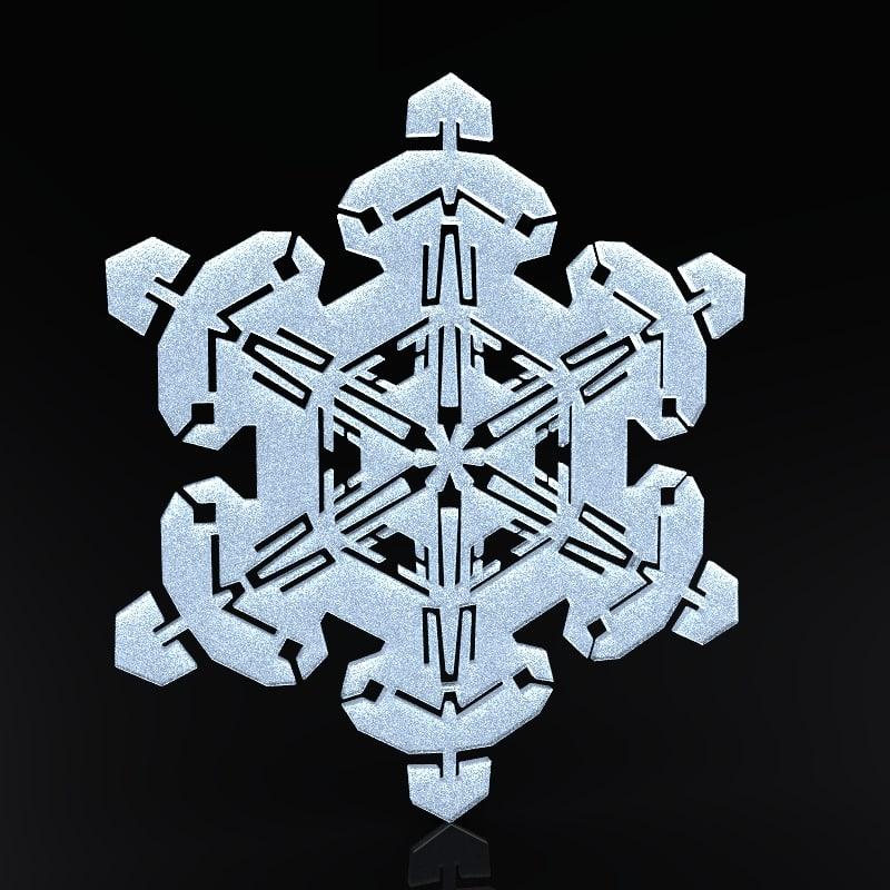 Snowflake Christmas Symbols 3d Obj
