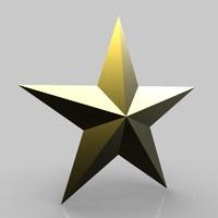 star symbol satan 3d obj