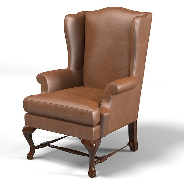 3ds Max Wing Chair Melrose