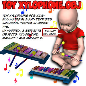 obj toy xylophone