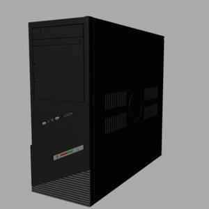 desktop computer tower 3d model