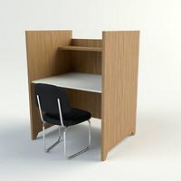 study carrel chair - 3d max