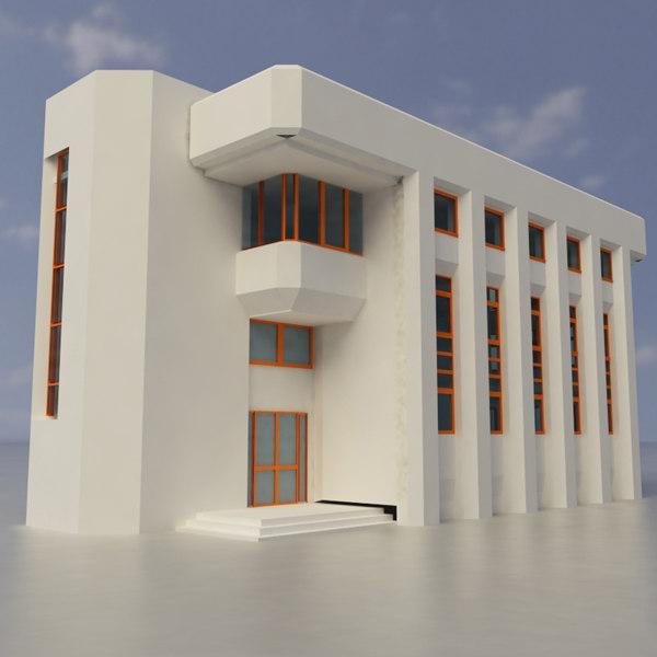 building exterior multi purpose 3d dxf