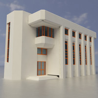 building exterior multi purpose 3d dxf