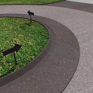 free c4d model roundabout