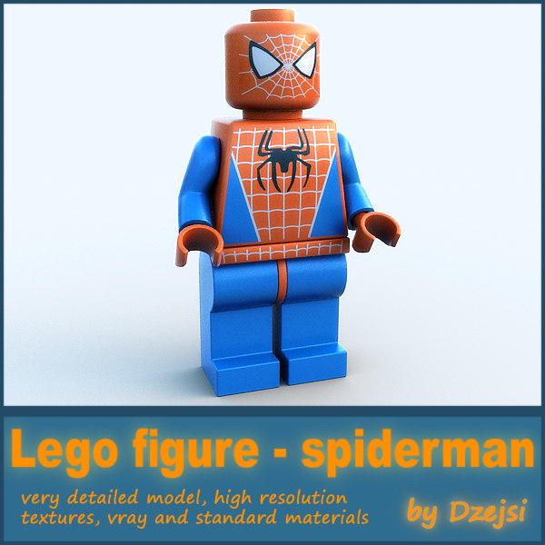 3ds max lego character - spiderman