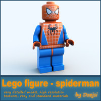 Lego character - spiderman