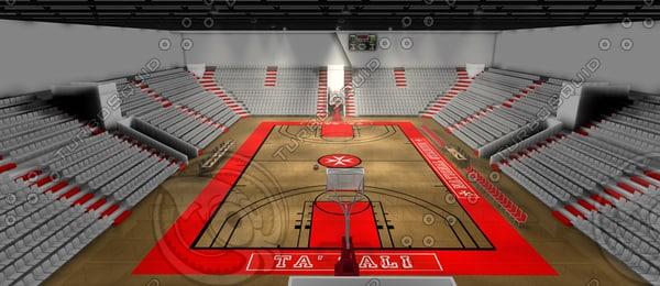 arena basketball c4d
