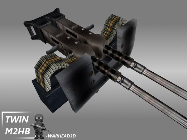 m2 browning twin 3d model