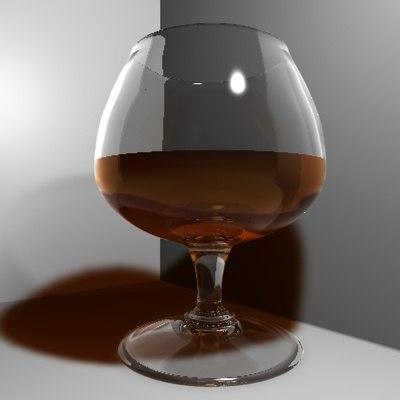 brandy glass 3d c4d