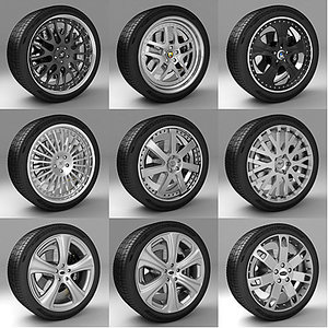 3dsmax wheels