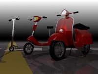 3 scooters 3d max