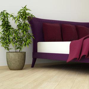 3d bed b model
