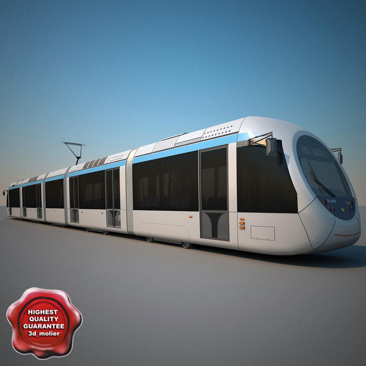 athens tram 3d 3ds