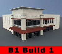 B1 COMPLETE 3 - Retail Building Complete - 3ds max 2010 Mental Ray