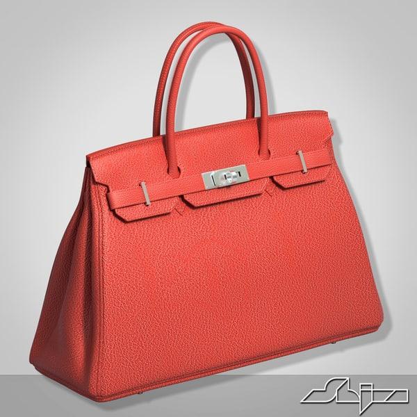 3d model hermes birkin bag