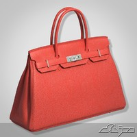 3d model hermes birkin bag