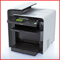 canon mf4570dn printer 3d model