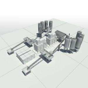 3ds max concrete plant