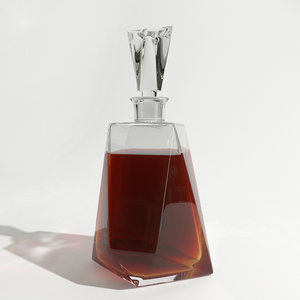 glass whisky decanter 3d 3ds