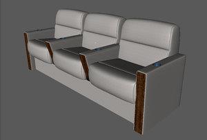 3d model divan business aircraft