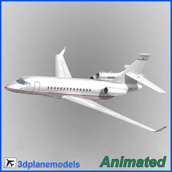 3d dassault falcon 7x private model