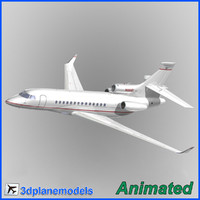 3d dassault falcon 7x private model
